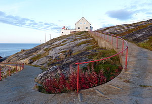 Access way to Bøkfjord lighthouse