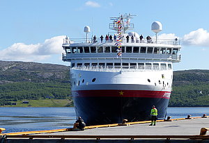 MS Spitsbergen docking at Kirkenes pier