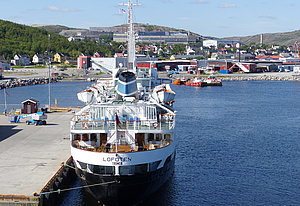 MS Lofoten at Kirkenes pier