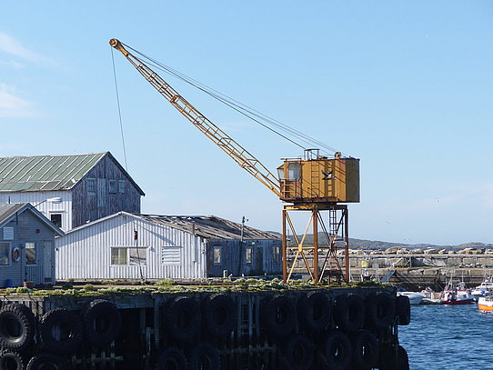 Old crane at Vardø harbour