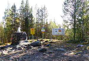 """Treriksrøysa"" at Finland–Norway–Russia border"