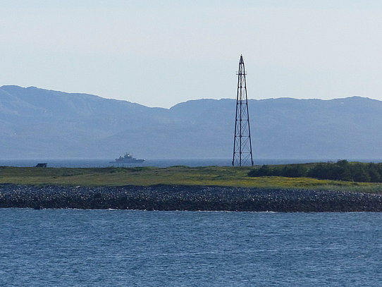 "Mooring mast in Vadsø used by the airship ""Norge"" at the expedition to the North Pole 1926"