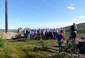 """Kirkenes Hornmusikk"" playing near Neiden"