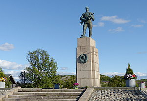 Soviet liberation monument in Kirkenes